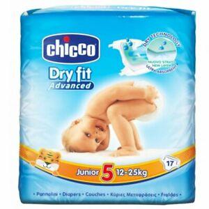 CHICCO Couches Dry Fit Junior T5 (12-25kg) 17 unités