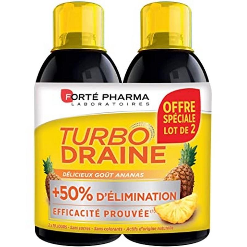 TurboDraine Minceur Ananas Lot de 2*500ml Forté Pharma